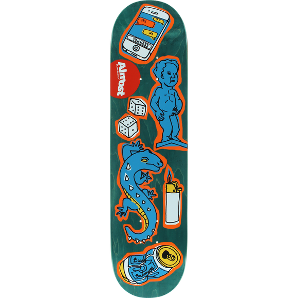 Almost Youness Dumb Doodle Deck -7.75 R7 Assembled as COMPLETE Skateboard | Universo Extremo Boards Skate & Surf