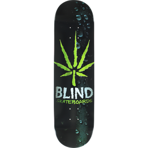 Blind Energy Leaf Deck -8.25 Black/Green  Assembled as COMPLETE Skateboard | Universo Extremo Boards Skate & Surf