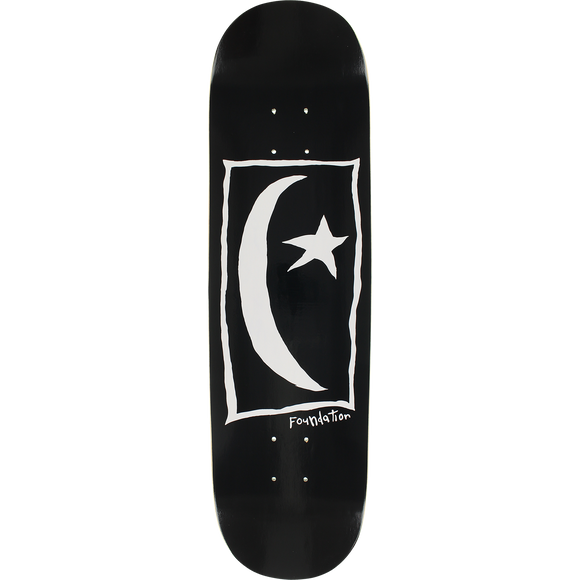 Foundation Star & Moon Square Skateboard Deck -8.25 Black