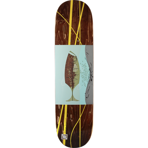 Habitat Marius Harper Familiar Fish Skateboard Deck -8.0