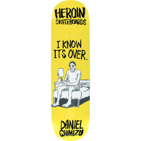 Heroin Shimizu Wordsmith Skateboard Deck -8.12 DECK ONLY
