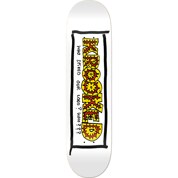 Krooked Team Spiked Skateboard Deck -8.25 White