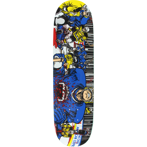 101 Koston Hockey Screened Skateboard Deck -8.2 DECK ONLY