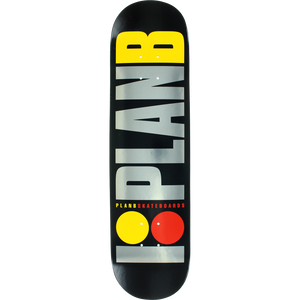 Plan B Team OG Logo 7.7 BLACK.ICE DECK  Assembled as COMPLETE Skateboard - New! | Universo Extremo Boards Skate & Surf