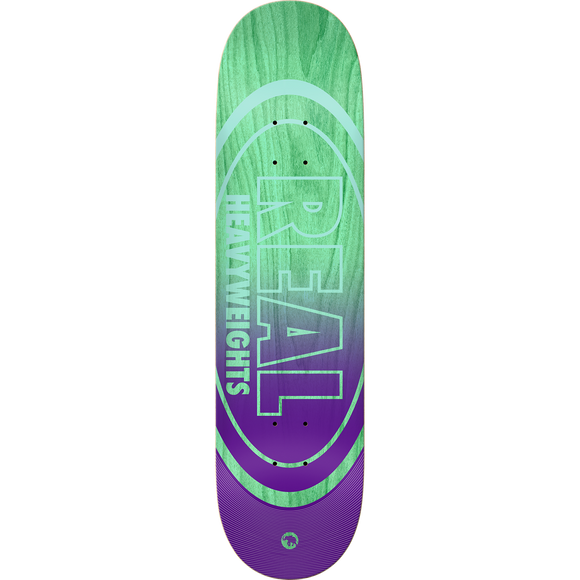 Real Heavyweights Skateboard Deck -8.38 Teal Green Stain/Purple