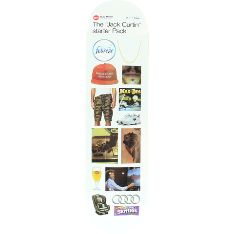 Skate Mental Curtin Starter Pack Skateboard Deck -8.12 DECK ONLY