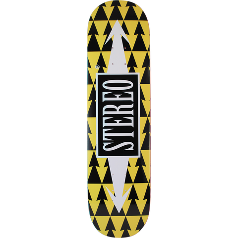 Stereo Arrow Patterns Skateboard Deck -8.3 Yellow  DECK ONLY