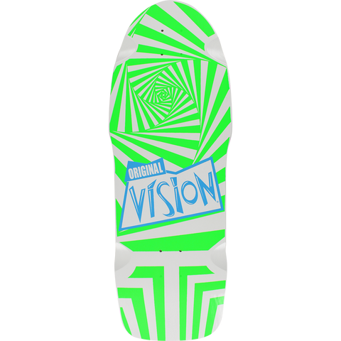 Vision The Original Vision Skateboard Deck -10x30 White/Green DECK ONLY