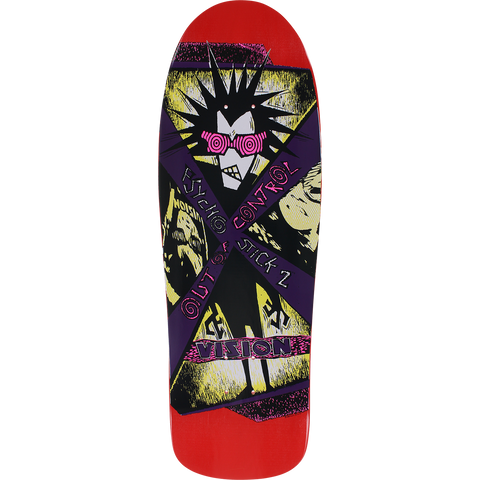 Vision Psycho Stick II Skateboard Deck -10x30.5 Red/Purple DECK ONLY