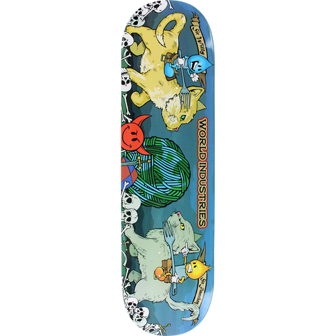 World Industries Cats Jousting Skateboard Deck -8.25 DECK ONLY