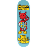 Wi Devil Man The World Is Yours Skateboard Deck -8.25 DECK ONLY