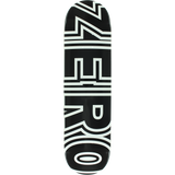 Zero Bold Skateboard Deck -8.0 Black/White DECK ONLY