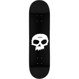 Zero Single Skull Skateboard Deck -8.25 Black/White DECK ONLY