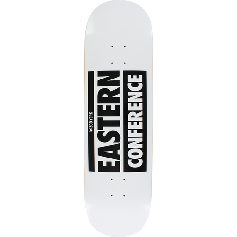 Zoo Eastern Conference Skateboard Deck -8.6 White/Black DECK ONLY