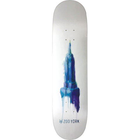 Zoo Water Color Empire Skateboard Deck -8.0 DECK ONLY