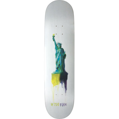 Zoo Water Color Liberty Skateboard Deck -8.6 DECK ONLY