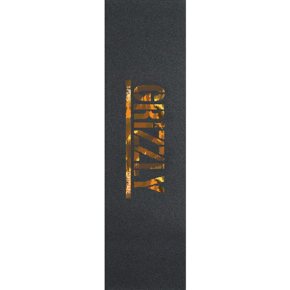 Grizzly Single Sheet Pudwill Stamp Wildlife Orange GRIPTAPE | Universo Extremo Boards Skate & Surf
