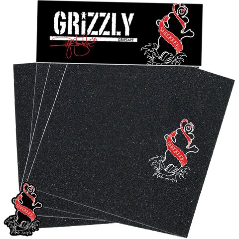 Grizzly GRIPTAPE Squares Sheckler Inked Pack | Universo Extremo Boards Skate & Surf