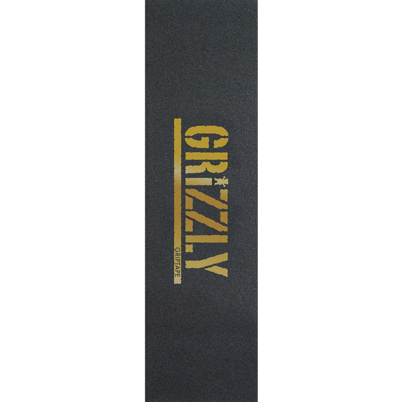 Grizzly Single Sheet Stamp Black/Gold GRIPTAPE | Universo Extremo Boards Skate & Surf