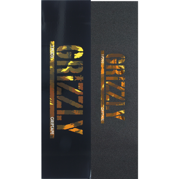 Grizzly Pudwill Stamp Wildlife Orange GRIPTAPE - PACK 20PCS | Universo Extremo Boards Skate & Surf