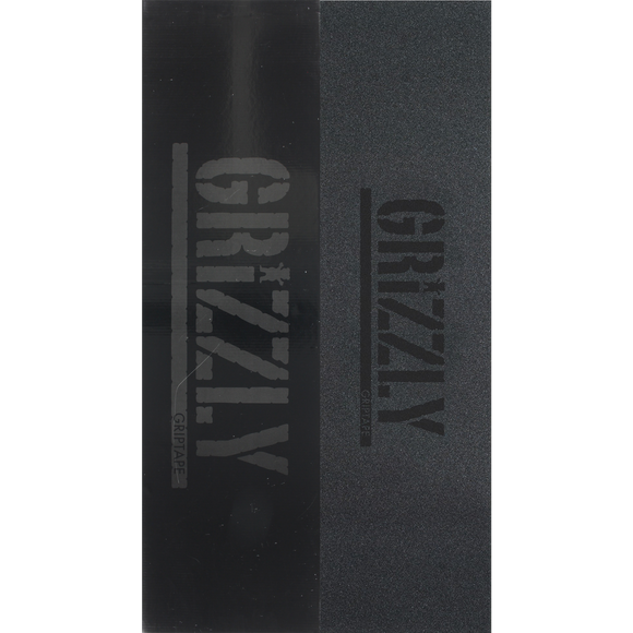 Grizzly Stamp Black/Black GRIPTAPE - PACK 20PCS | Universo Extremo Boards Skate & Surf