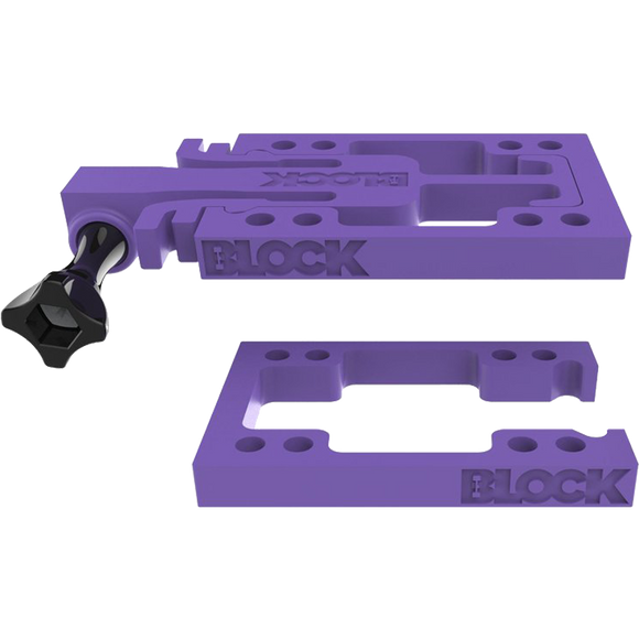 Block Riser Goblock Risers Kit Purple (Connect GoPro's HeroÆ to your Skateboard) | Universo Extremo Boards Skate & Surf