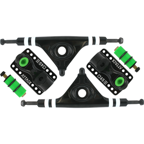 Attack Black Star Rkp 180mm/45° Black Longboard Trucks (Set of 2)