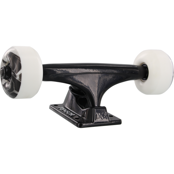 Tensor Alloy Truck Cmbo 5.25 Black W/White 52mm Darkstar Skate Trucks (Set of 2)