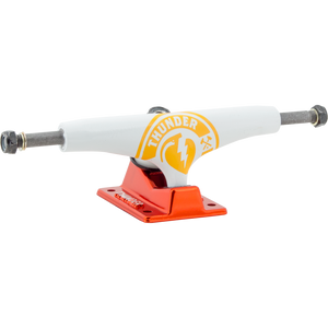 Thunder HI 145 Lights Party Punch White/Orange Skateboard Trucks (Set of 2) | Universo Extremo Boards Skate & Surf