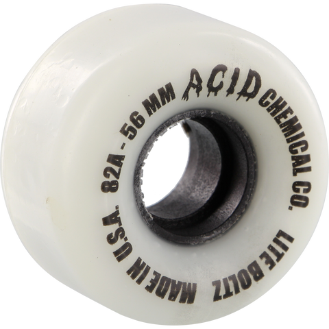 Acid Clean Machine 56mm 82a White/Black Skateboard Wheels (Set of 4)