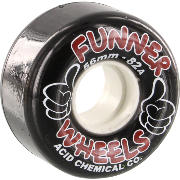 Acid Thumbs Up 56mm Black Skateboard Wheels (Set of 4) | Universo Extremo Boards Skate & Surf