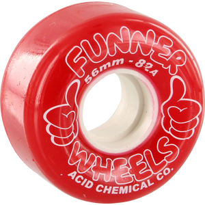 Acid Thumbs Up 56mm Red Skateboard Wheels (Set of 4) | Universo Extremo Boards Skate & Surf