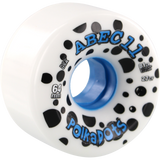 ABEC 11 Polka Dots 64mm 81a White/Blue Longboard Wheels (Set of 4) | Universo Extremo Boards Skate & Surf