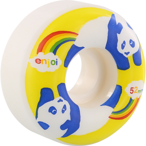 Enjoi - Rainbow Fart 52mm White/Yellow Skateboard Wheels (Set of 4)