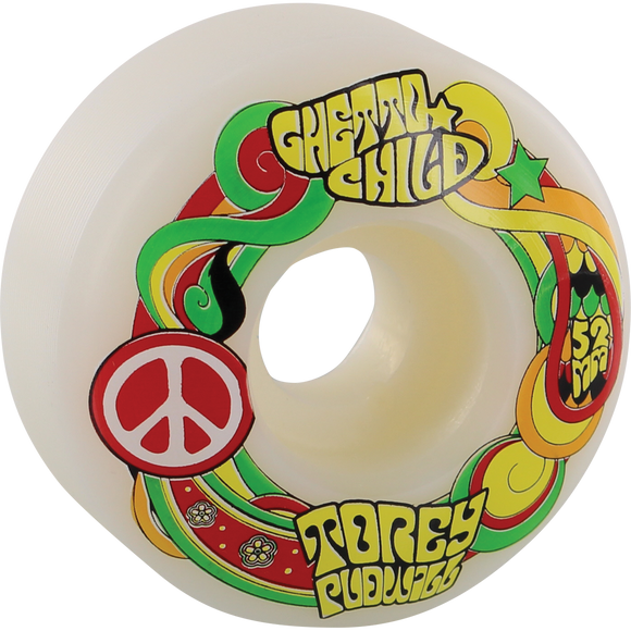 Ghetto Child Pudwill Peace 52mm Skateboard Wheels (Set of 4)