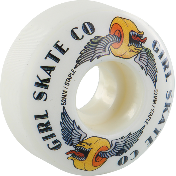Girl Biter 52mm White Skateboard Wheels (Set of 4) | Universo Extremo Boards Skate & Surf
