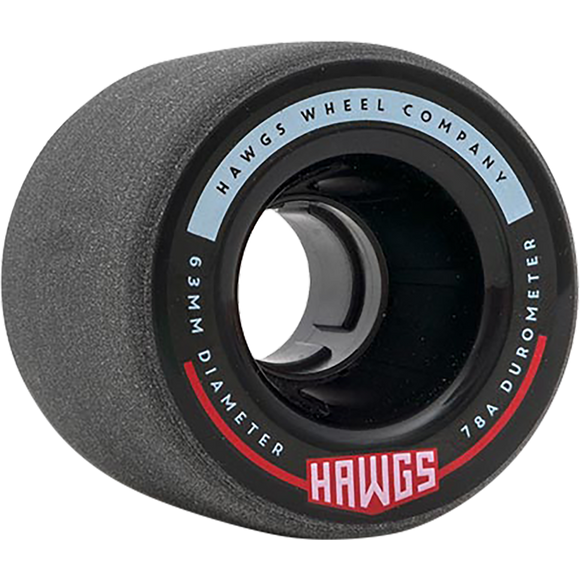 Hawgs - Fattie 63mm 78a Black Longboard Wheels (Set of 4)