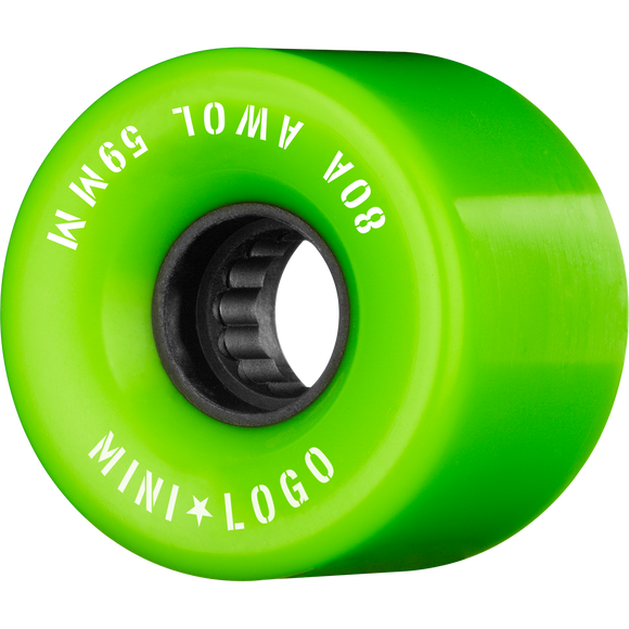 Mini Logo ATF A.W.O.L. 59mm 80a Green Skateboard Wheels (Set of 4)