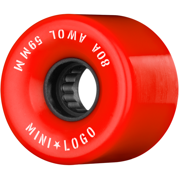 Mini Logo ATF A.W.O.L. 59mm 80a Red Skateboard Wheels (Set of 4)