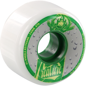 OJ Wheels III Creature Tall Can 54mm 87a White/Green Skateboard Wheels (Set of 4) | Universo Extremo Boards Skate & Surf