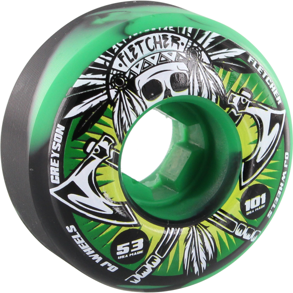 OJ Wheels Fletcher Tomahawk 53mm 101a Green Skateboard Wheels (Set of 4) | Universo Extremo Boards Skate & Surf
