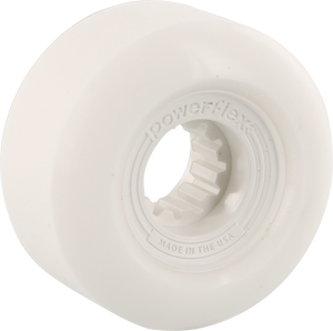 Powerflex Gumball 52mm 83b White/White Skateboard Wheels (Set of 4)