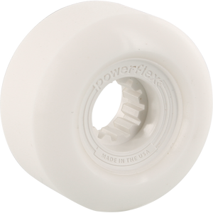 Powerflex Gumball 56mm 83b White/White Skateboard Wheels (Set of 4)