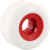 Powerflex Gumball 60mm 83b White/Red Skateboard Wheels (Set of 4)