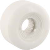 Powerflex Gumball 60mm 83b White/White Skateboard Wheels (Set of 4)