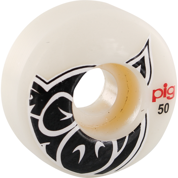 Pig Head Natural 50mm Skateboard Wheels (Set of 4)