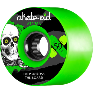 Powell Peralta ATF 59mm 78a Skate Aid Ripper Green Skateboard Wheels (Set of 4)