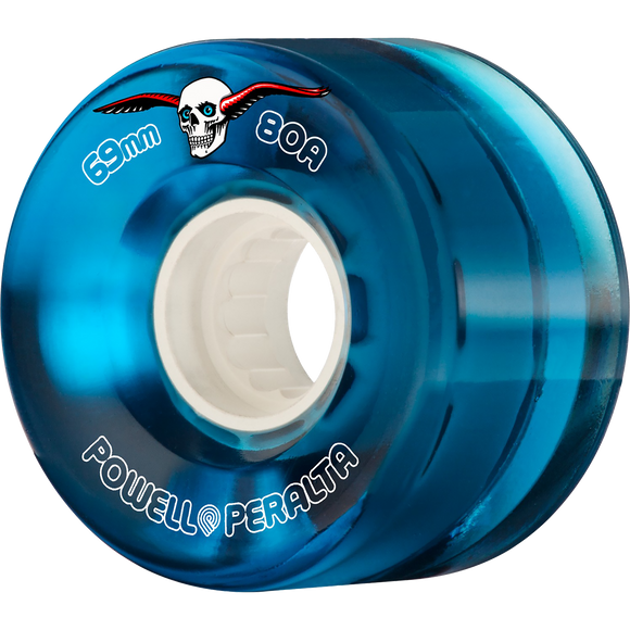 Powell Peralta Clear Cruiser 69mm 80a Blue Longboard Wheels (Set of 4)