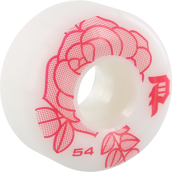 Primitive Rosa 54mm White/Burgundy Skateboard Wheels (Set of 4)