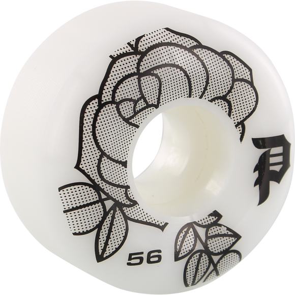 Primitive Rosa 56mm White/Black Skateboard Wheels (Set of 4)